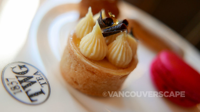 TWG Tea/Passion Fruit Tea-infused passion fruit and mango tartlet