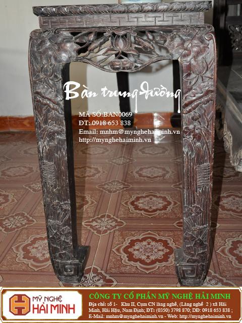 bàn trung đường gỗ cẩm