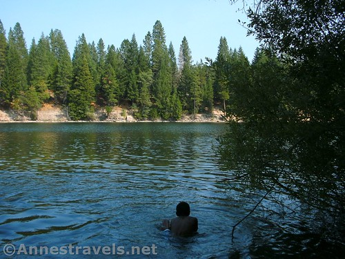 Looking the other direction from Mt. Shasta across Lake Siskiyou, Shasta-Trinity National Forest, California