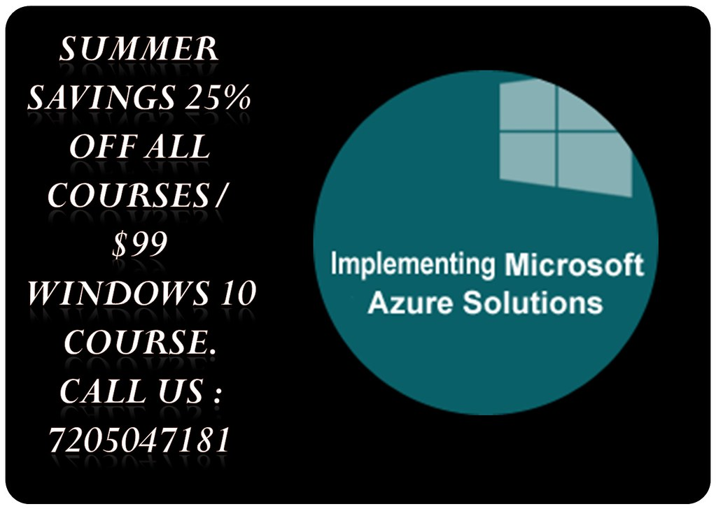 Mplementing Microsoft Azure Solutions Online Training Flickr