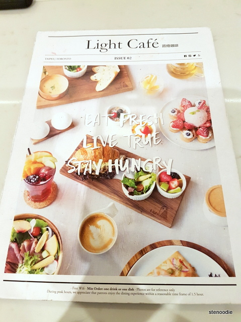 Light Café menu