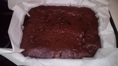 Pear and Dark Chocolate Brownies