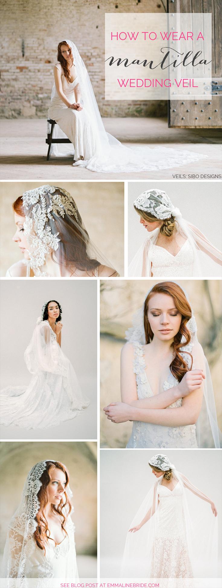 How to wear a mantilla wedding veil
