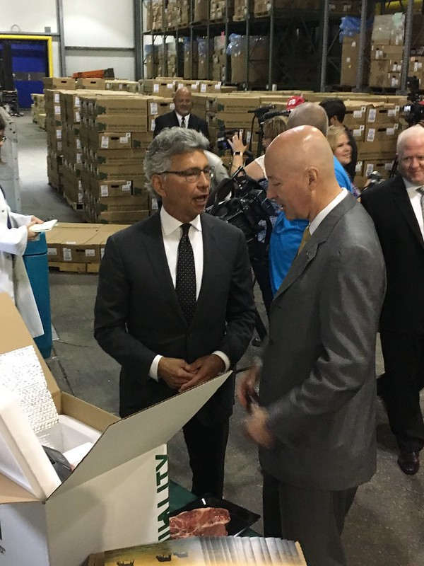 Gov. Ricketts, Ag Director Join Greater Omaha Packing to Load First Beef Shipment to China