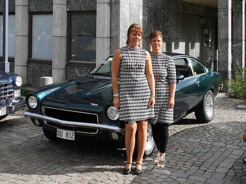 Pia, Ulrika och Chevrolet Vega.