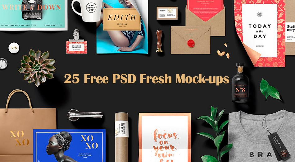 Download 25 Free PSD Fresh Mock-ups