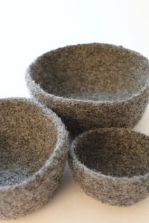 Set of 3 Felted Bowls | by smithsoccasional