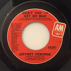 JEFFREY OSBORNE:DON'T YOU GET SO MAD(LABEL SIDE-A)