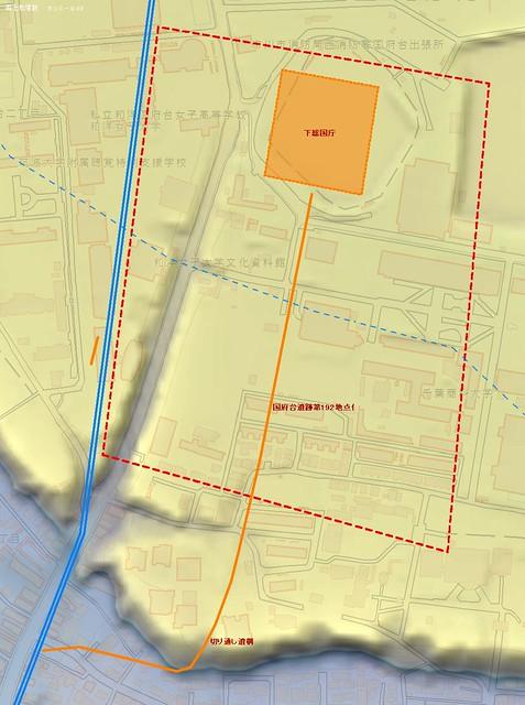 市川市国府台遺跡 地理院地図 イメージ図