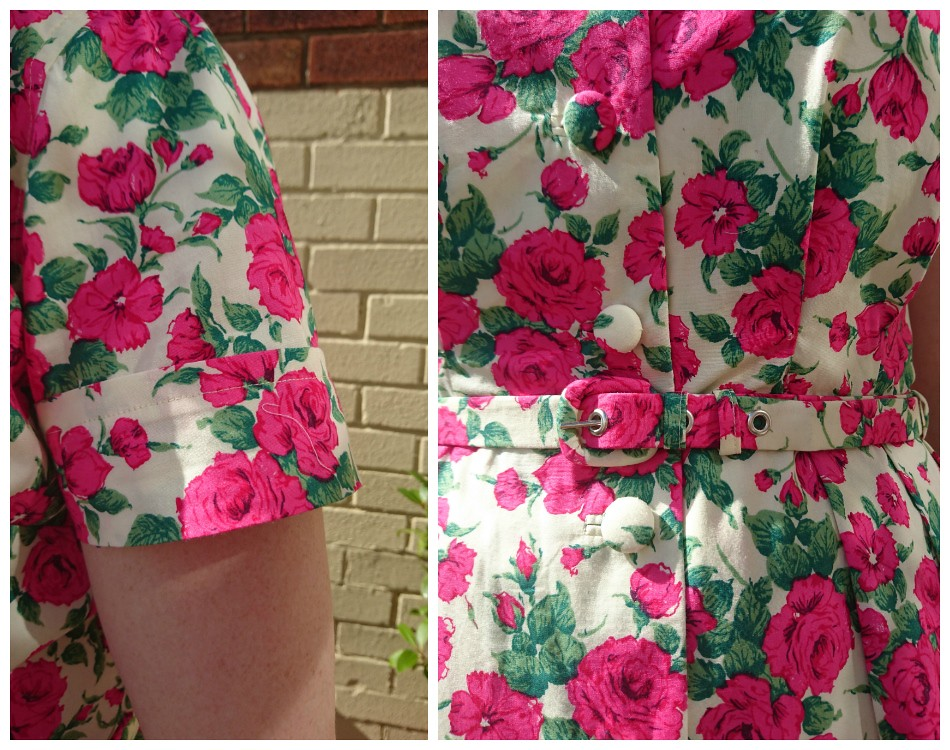 Vintage shirtdress details