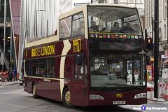 Volvo B9TL Optare Visionaire - PF08 URP - DA201 - Big Bus London - London 2017 - Steven Gray - IMG_9243