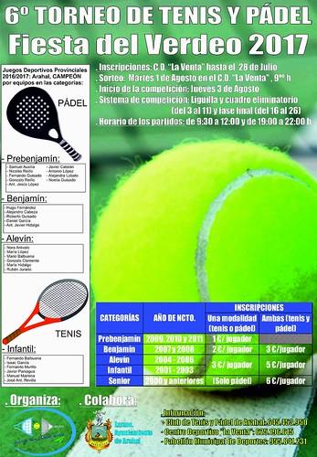 """AionSur 35528007016_068a9cf882_d Nueva edición del Torneo de Tenis y Pádel """"Fiesta del Verdeo"""" Deportes Pádel"""