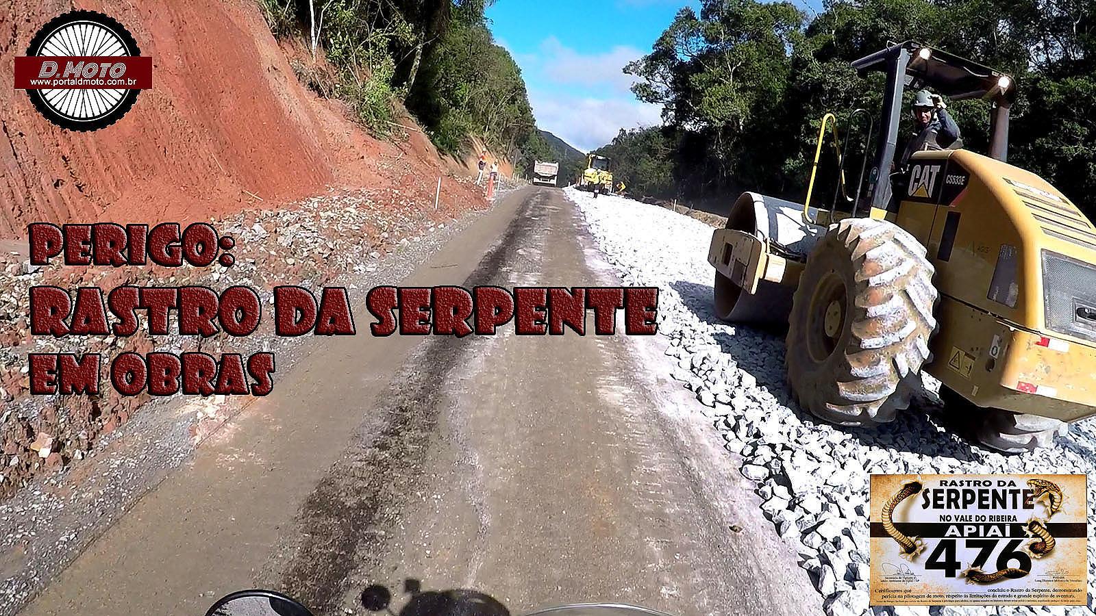 Rastro da Serpente em obras compromete motociclistas