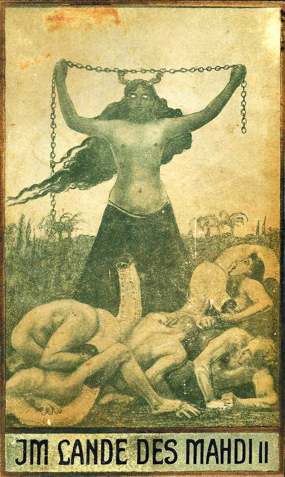 """Sascha Schneider - Illustration for Karl May's """"In the Land of the Mahdi 2,"""" 1905"""