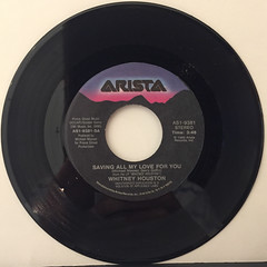 WHITNEY HOUSTON:SAVING ALL MY LOVE FOR YOU(RECORD SIDE-A)