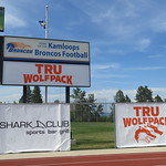 Two WolfPack signs at Hillside (June 7, 2017)