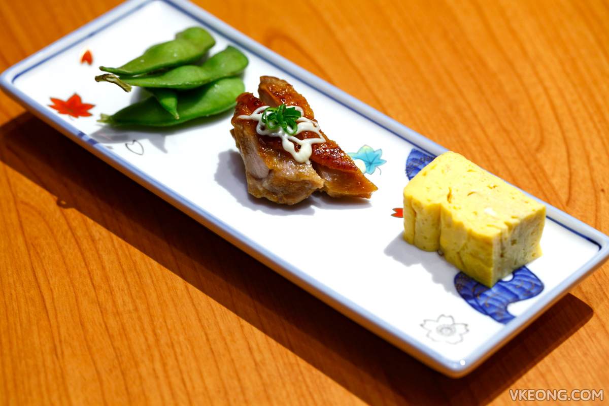 Touan Yakitori Robata Teriyaki Chicken Omelette Appetizers
