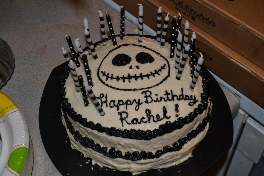 Jack Skellington Birthday Cake Vegan I Made My Friend A Flickr