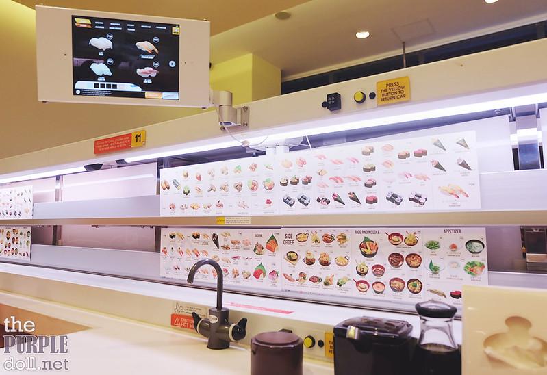 Booth at Genki Sushi