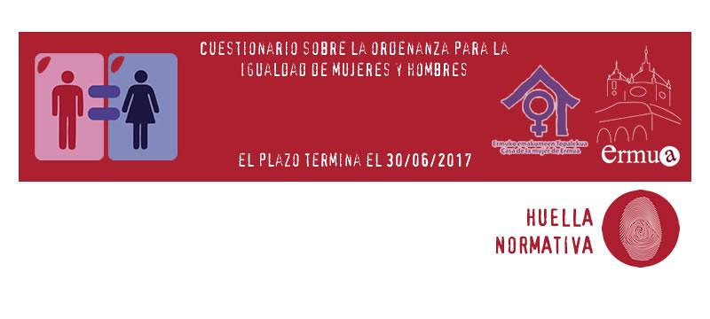 Cartel anunciador de la encuesta sobre la nueva ordenanza de igualdad