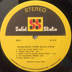 V.A.:HIGHLIGHTS FROM SOLID STATE(LABEL SIDE-B)