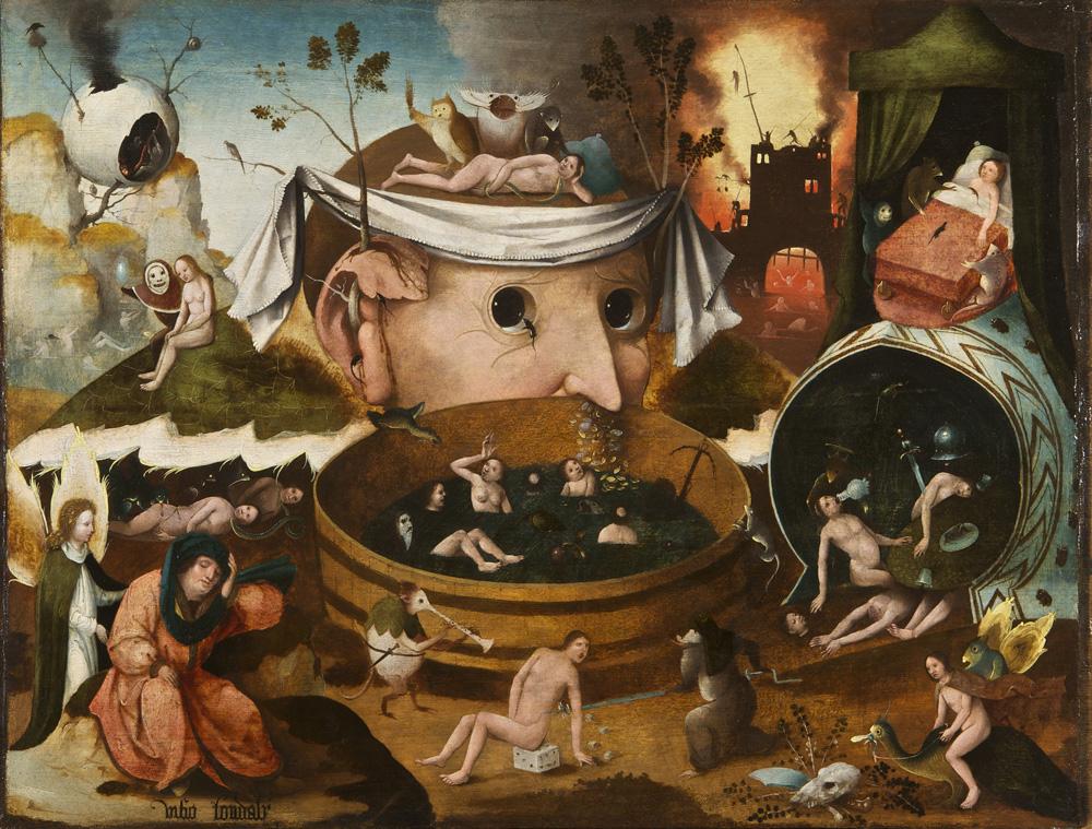 ボヒエロニムス・ボス工房《トゥヌグダルスの幻視》(1490―1500年頃、ラサロ・ガルディアーノ財団)