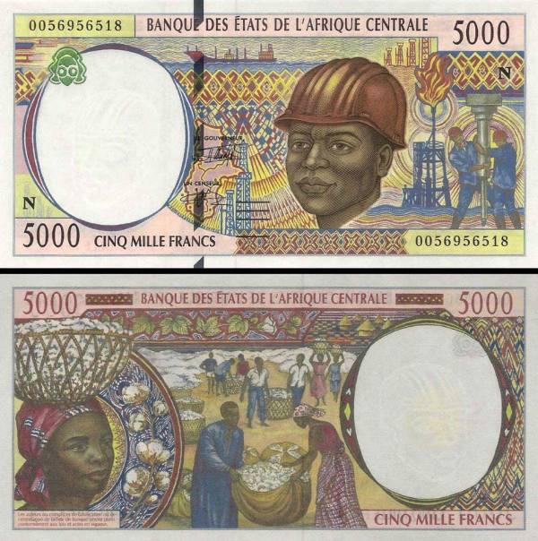 5000 Frankov Čad (Central African States) 2000, P504Nf