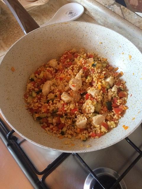 cuscus con pollo e verdure