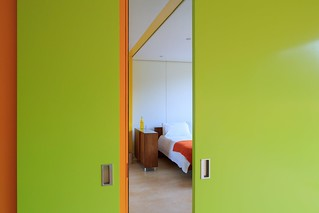prefab 1960s harvard design London Wimbledon House bedroom doors | by mod*mom