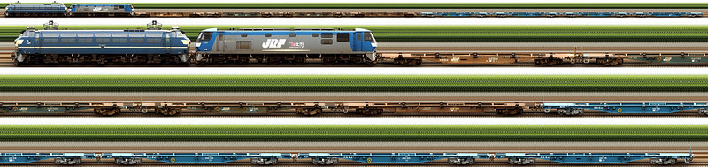 配6867レ EF66 27 + ムドEF210-153