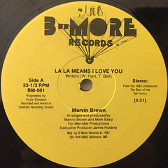 MARVIN BROWN:LA LA MEANS I LOVE YOU(LABEL SIDE-A)