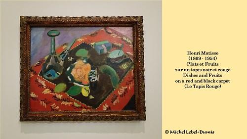 Henri matisse plats et fruits sur un tapis noir et rouge flickr - Tapis beige et rouge ...