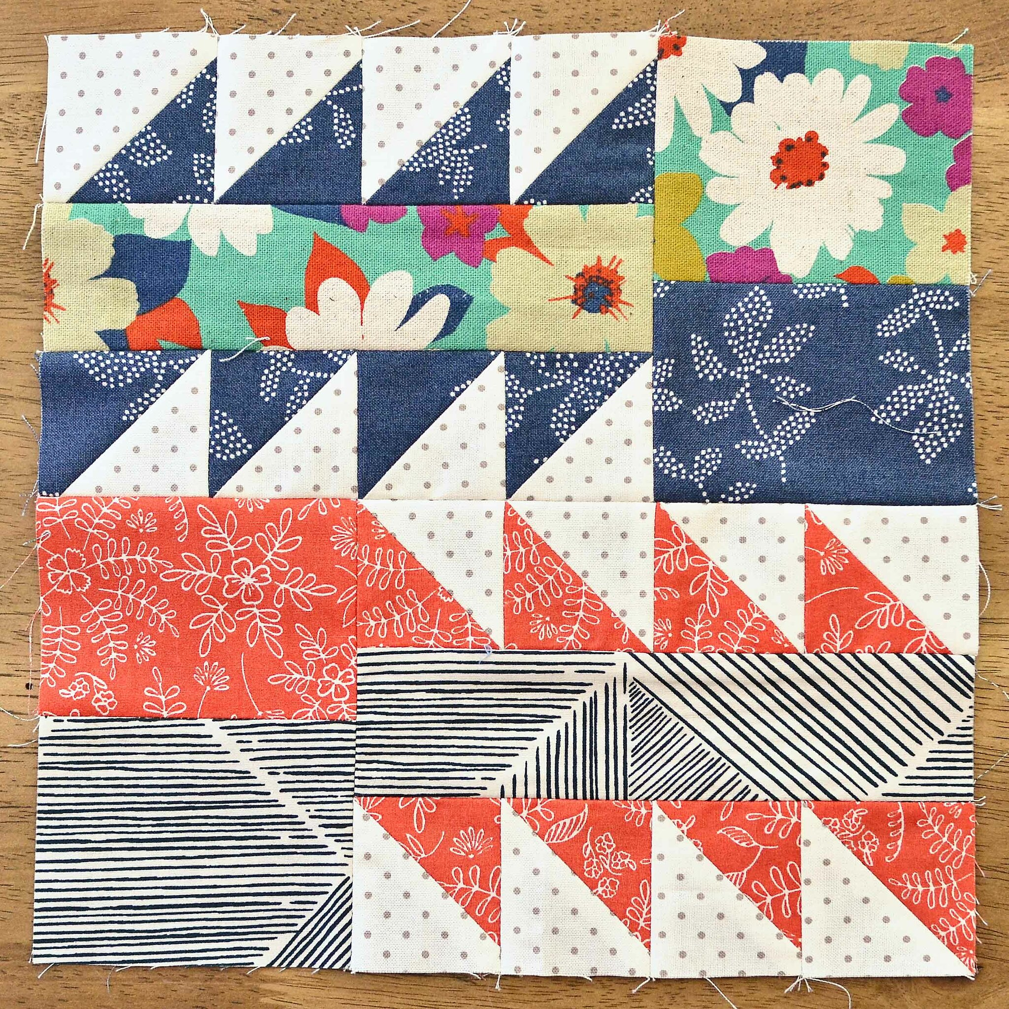 The Fussy Cut Sampler QAL Block 25