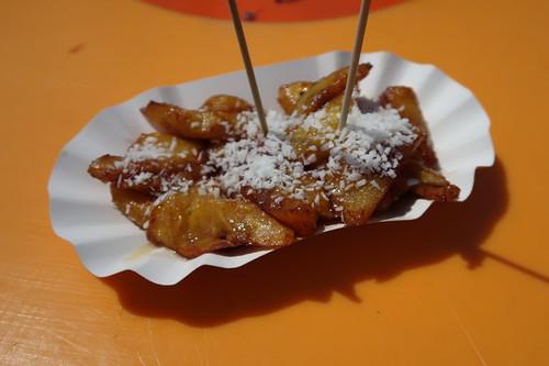 Plantain (= Kochbanane mit Honig und Kokos)