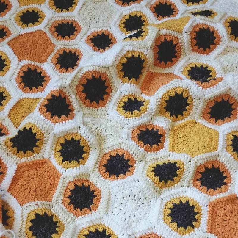 🌻no more letting this one sit for months on end. My goal is to have it finished for my birthday, June 29th! I can do it! 💪💪 #crochetersofinstagram #crochetgirlgang #craftastherapy #hexieloveactually #makersgonnamake