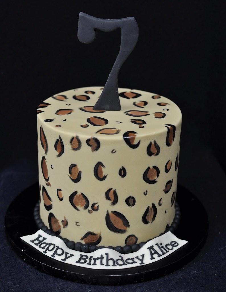 Prime Cheetah Birthday Cake Jenny Wenny Flickr Funny Birthday Cards Online Benoljebrpdamsfinfo