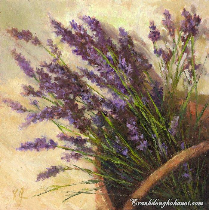 Hinh anh gio hoa oai huong phang phat nong nan trong buc tranh ve lavender