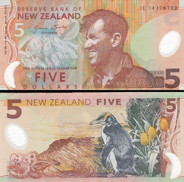 5 dolárov Nový Zéland 2014, polymer P185c
