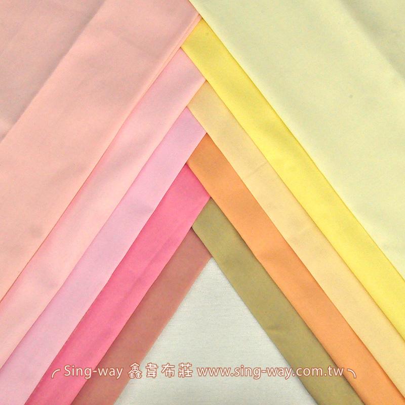 3C240049 暖色系 素面T/C 薄棉布