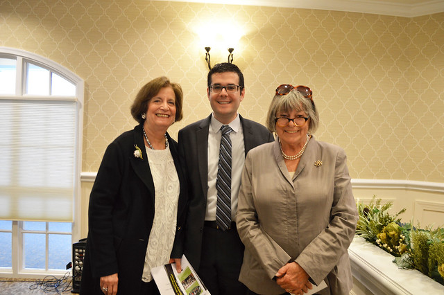 GenMtgMayLunch2017_0058; Florence Begun/Vice-President, Dr. Gregory Geehern, Kathy Hutchins/President.