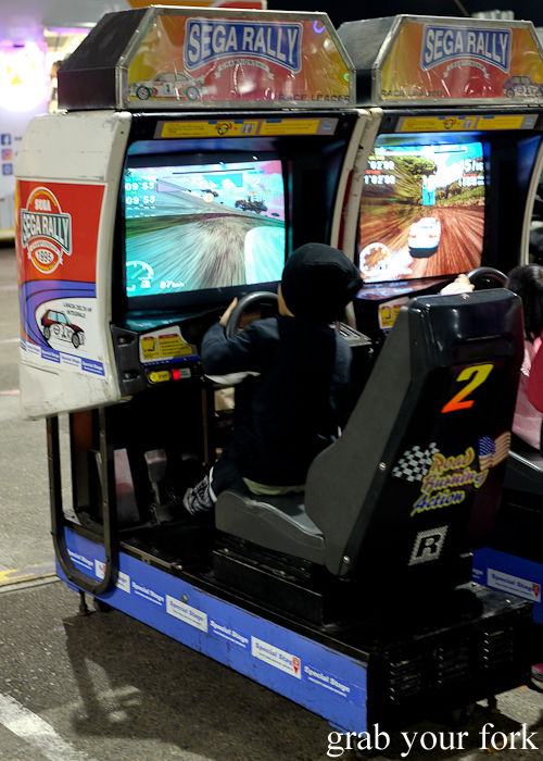 Free Sega Rally arcade games at Paddy's Night Food Markets