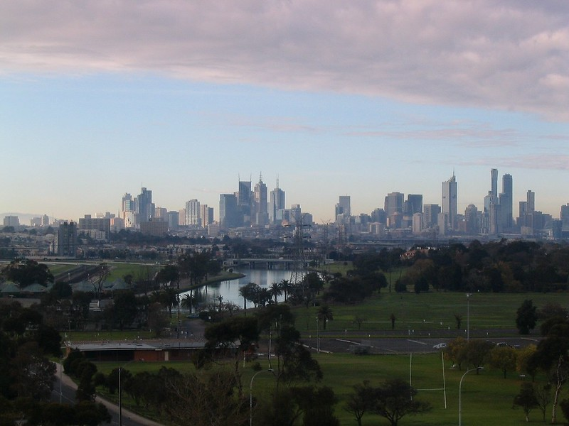 View from west to Melbourne City, June 2007