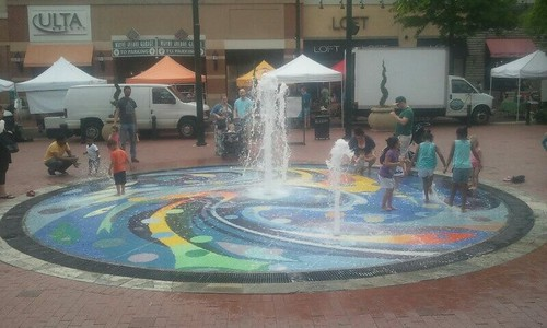 Splash Fountain, Downtown Silver Spring