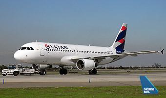 LATAM A320 CC-BAS push back (RD)