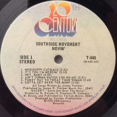 SOUTHSIDE MOVEMENT:MOVIN'(LABEL SIDE-A)