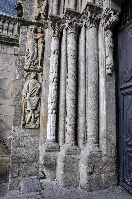 Santiago de Compostela, katedrála, jižní portál