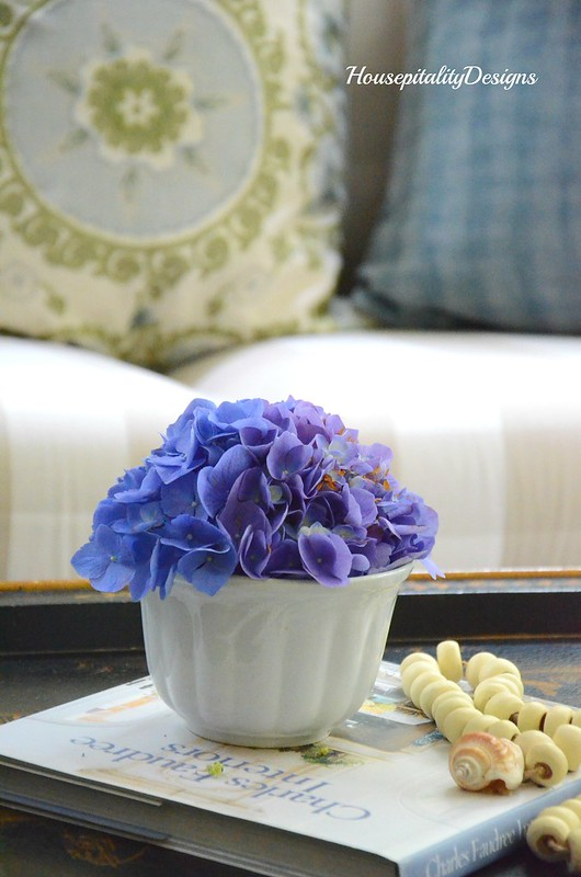 Hydrangeas-Ironstone-Sunroom-Housepitality Designs