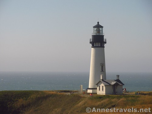 The Yaquina Head Lighthouse near Newport, Oregon