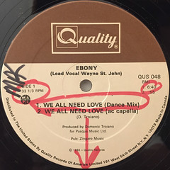 EBONY:WE ALL NEED LOVE(LABEL SIDE-A)