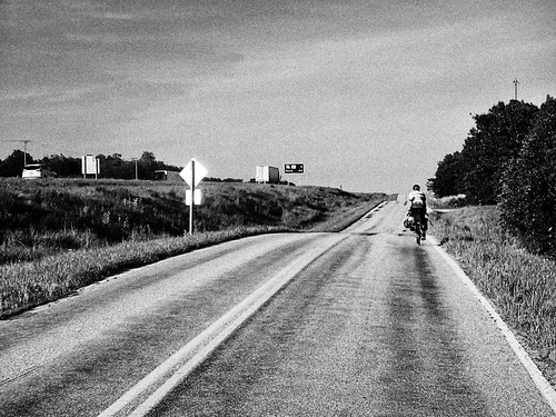 bicycle Route 66 black and white | by gattmolson
